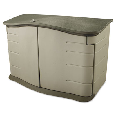 Rubbermaid® Horizontal Outdoor Storage Shed - Candor Janitorial Supply